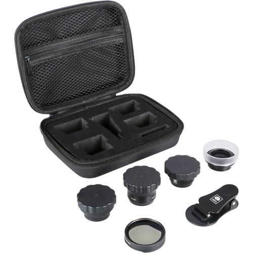 Sirui 4-Lens Kit (Black Wide, Portrait, Macro, Fisheye, and Circular Polarizer)