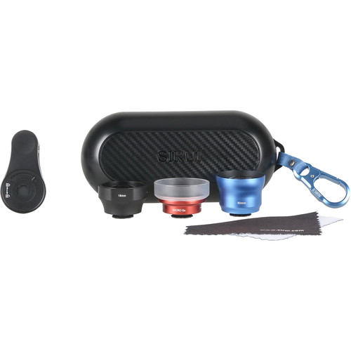 Sirui 3-Lens Mobile Phone Kit (Black Wide-Angle, Blue Portrait, and Red Macro)