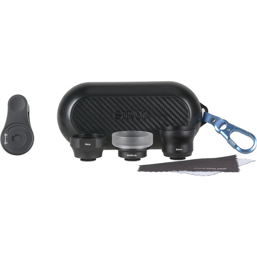 Sirui 3-Lens Mobile Phone Kit (Black Wide-Angle, Portrait, and Macro)
