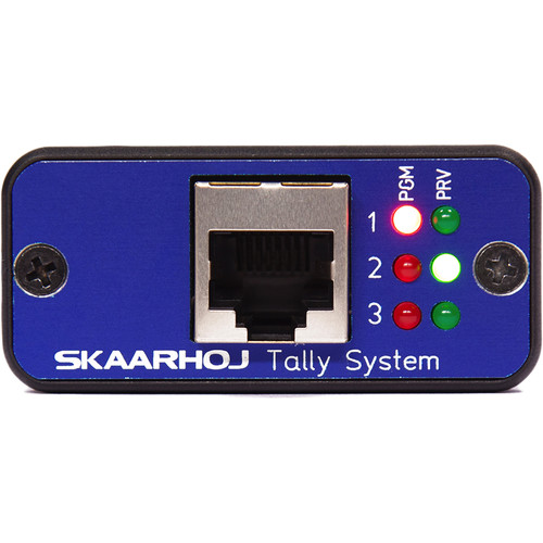 SKAARHOJ Micro Tally Box with Three Lamps Program/Preview Tally