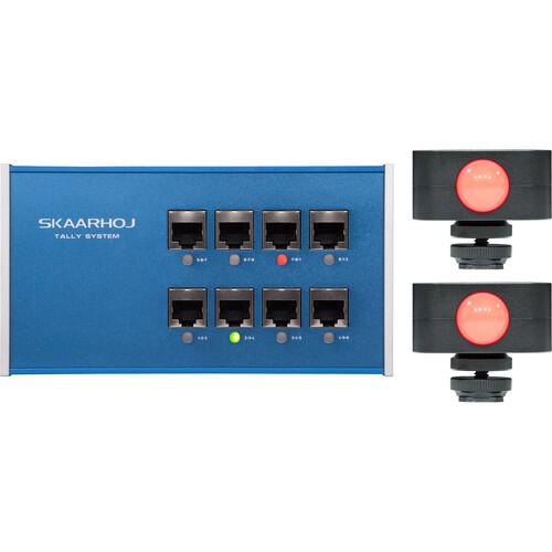 SKAARHOJ 8-Channel Tally Box System