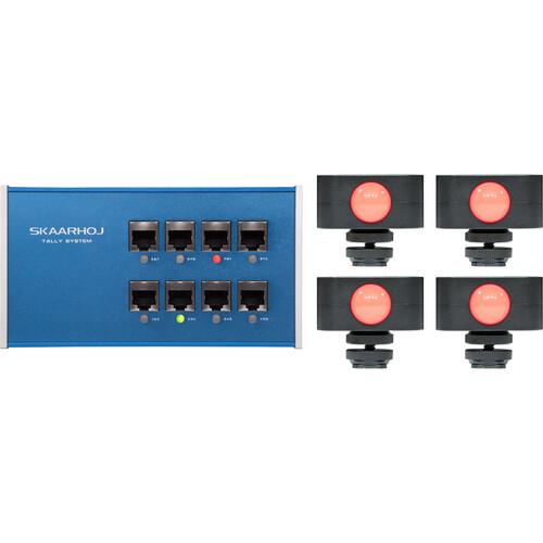 SKAARHOJ 8-Channel Tally Box System with Four Tally Lights