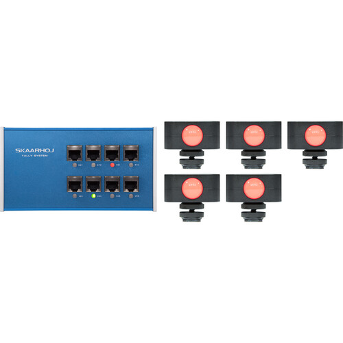 SKAARHOJ 8-Channel Tally Box System with Five Tally Lights