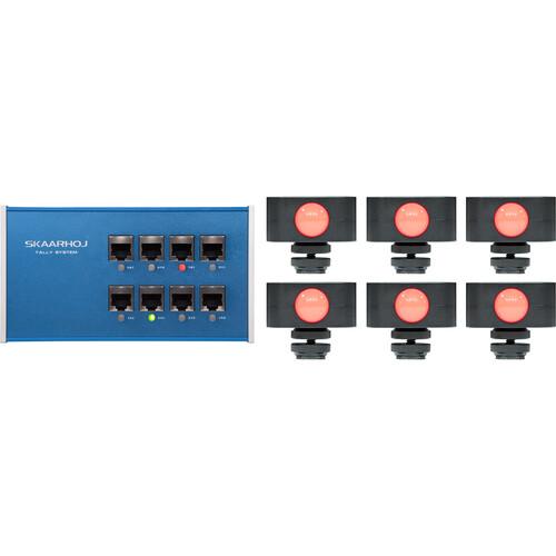 SKAARHOJ 8-Channel Tally Box System with Six Tally Lights