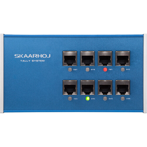 SKAARHOJ 8-Channel Tally Box System with Two Tally Lights
