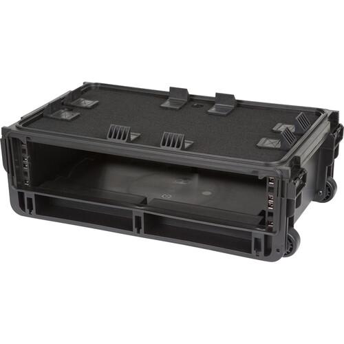 SKB Injection-Molded 2 RU Studio Flyer Rack Case