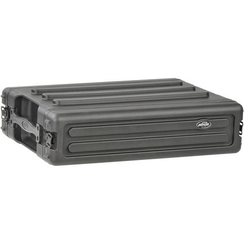 SKB 2U Roto Shallow Rack Case with Steel Rails