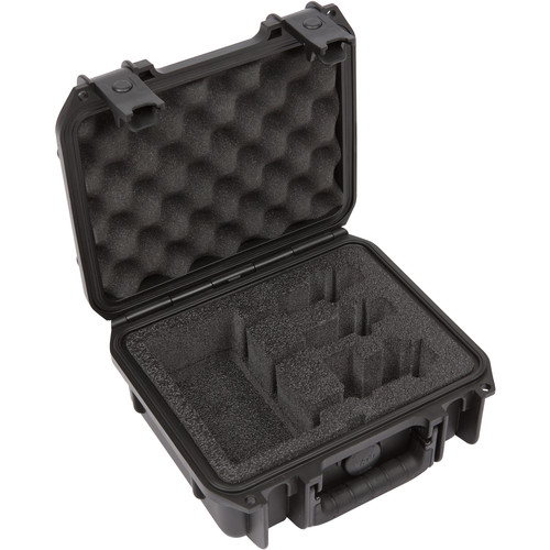 SKB iSeries Waterproof Case for Two-Channel Sony or Saramonic Wireless Mic Systems