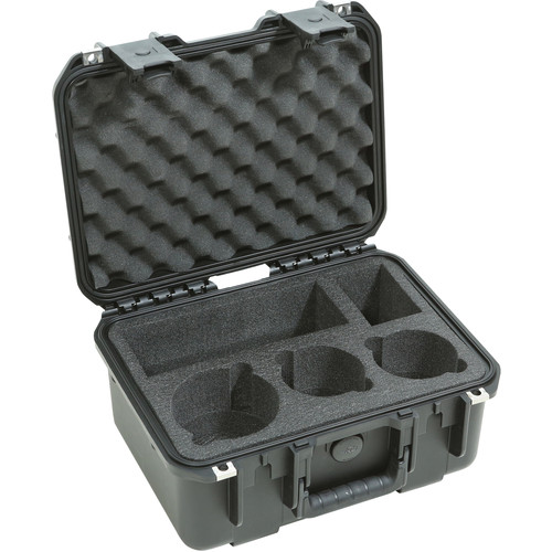 SKB iSeries Watertight Case for Three DSLR Lenses