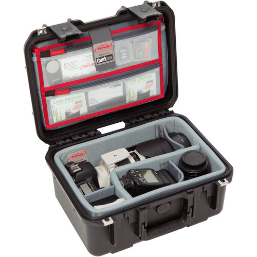 SKB iSeries 1309-6 Case with Think Tank Photo Dividers &Lid Organizer (Black)