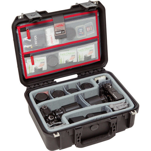 SKB iSeries 1510-6 Case with Think Tank Photo Dividers &Lid Organizer (Black)