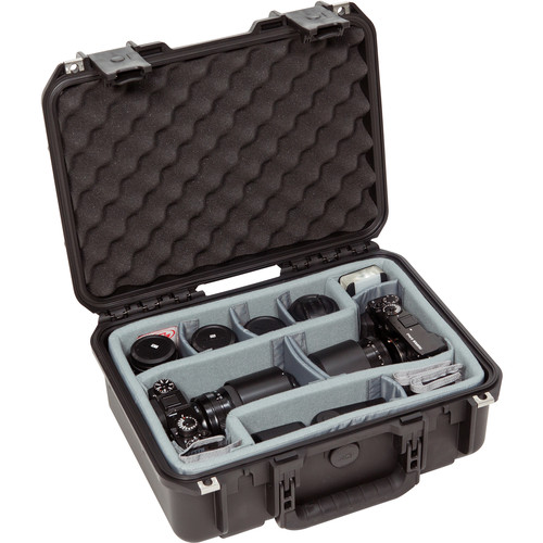 SKB iSeries 1510-6 Case with Think Tank Photo Dividers &Lid Foam (Black)