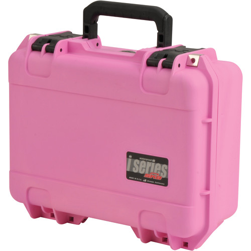 SKB iSeries 1510-6 Waterproof Utility Case with Layered Foam (Pink)
