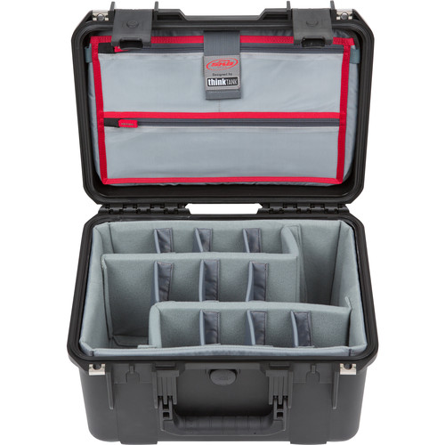 SKB iSeries 1510-9 Waterproof Utility Case with Foam Dividers and Lid Organizer (Black)