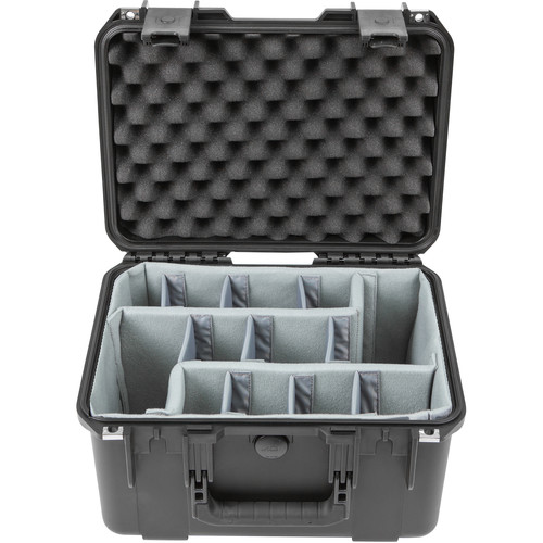 SKB iSeries 1510-9 Waterproof Utility Case with Foam Dividers (Black)