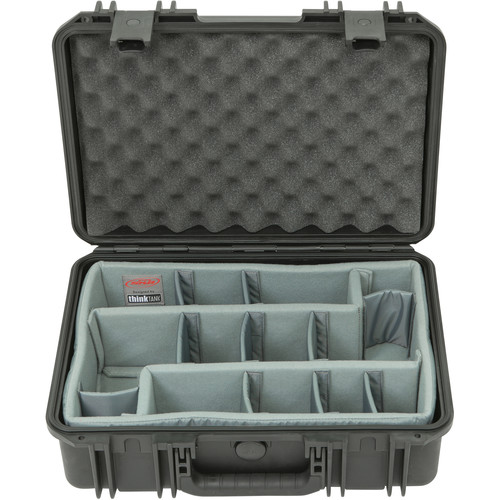 SKB iSeries 1711-6 Case with Think Tank-Designed Photo Dividers & Lid Foam (Black)