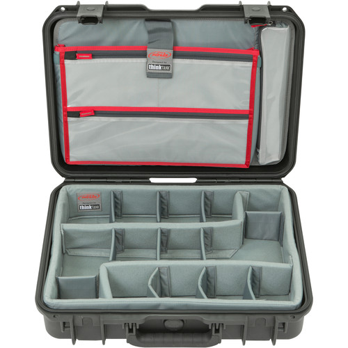 SKB iSeries 1813-5 Case with Think Tank Photo Dividers &Lid Organizer (Black)