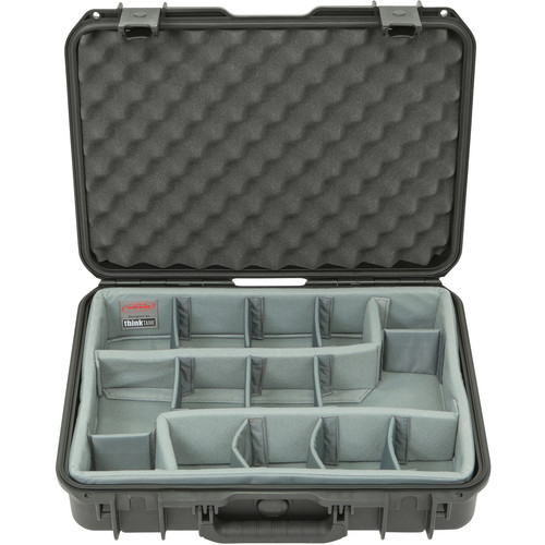 SKB iSeries 1813-5 Case with Think Tank Photo Dividers &Lid Foam (Black)