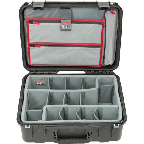 SKB iSeries 1813-7 Case with Think Tank-Designed Photo Dividers &Lid Organizer (Black)