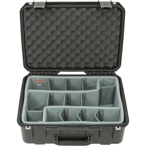 SKB iSeries 1813-7 Case with Think Tank Photo Dividers &Lid Foam (Black)