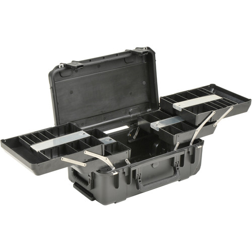 SKB iSeries 2011-7 Watertight Tech Box with Dual Trays (Black)