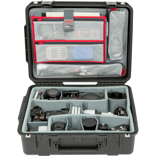 SKB iSeries 2015-7 Case with Think Tank Photo Dividers &Lid Organizer (Black)
