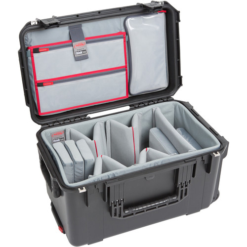 SKB iSeries 2213-12 Case with Think Tank-Designed Video Dividers &Lid Organizer (Black)