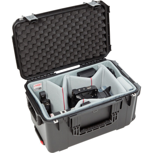 SKB iSeries 2213-12 Case with Think Tank-Designed Video Dividers & Lid Foam (Black)