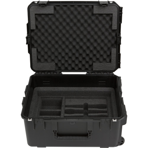 SKB iSeries Injection Molded for 4-Wireless with 2U Fly Rack with Wheels (Black)