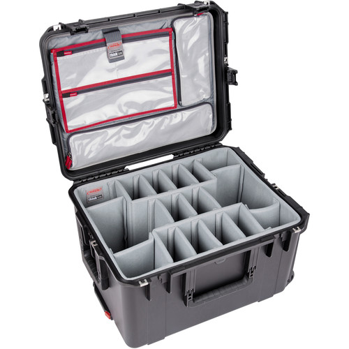 SKB iSeries 2217-12 Case with Think Tank Photo Dividers &Lid Organizer (Black)
