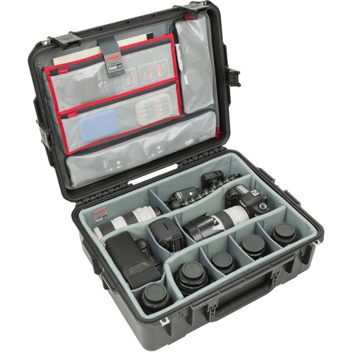 SKB iSeries 2217-8 Case with Think Tank Photo Dividers &Lid Organizer (Black)