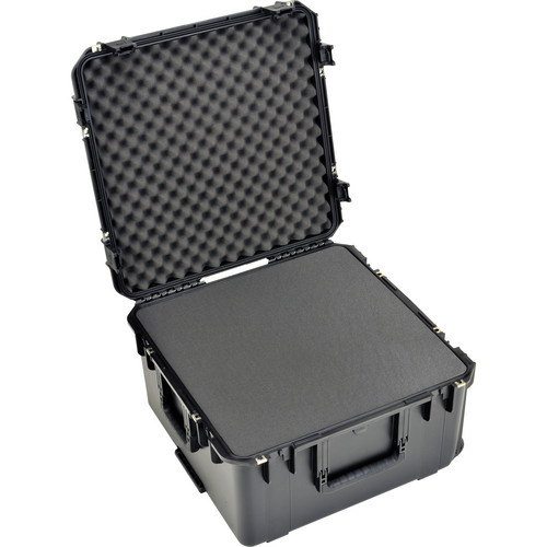 "SKB Watertight Case 12"" Deep with Wheels and Pull Handle (Cubed Foam)"