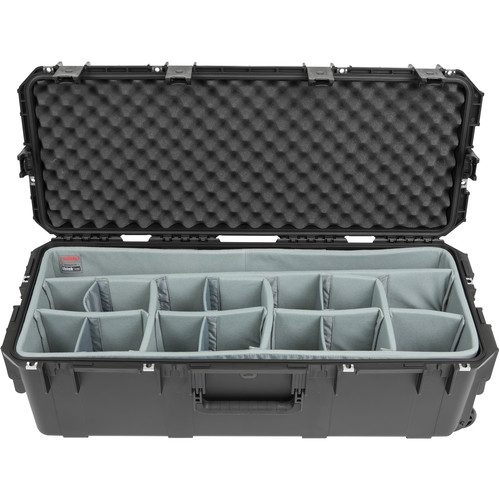 SKB iSeries 3613-12 Case with Think Tank Lighting/Stand Dividers &Lid Foam (Black)