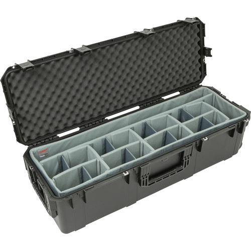 SKB iSeries 4213-12 Case with Think Tank-Designed Lighting/Stand Dividers &Lid Foam (Black)