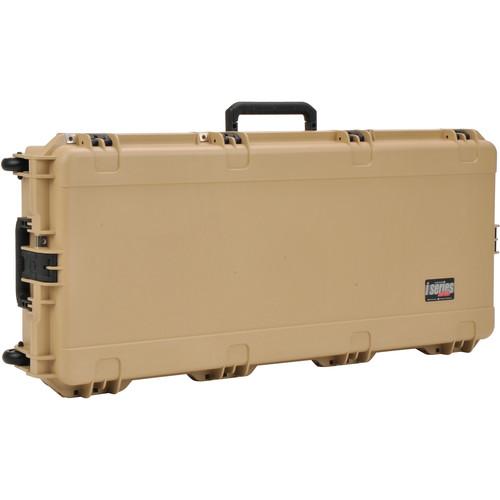 SKB iSeries Waterproof Acoustic Guitar Case with Wheels (Tan)