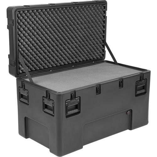SKB R Series 4222-24 Waterproof Utility Casewith Wheels (Black, Layered Foam)