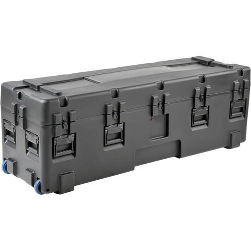 "SKB 3R Series Waterproof Utility Case with 4"" Edge Wheels (Empty, Black)"