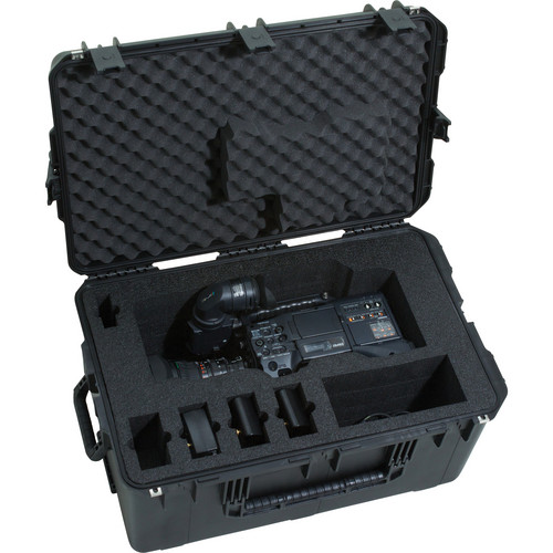 SKB iSeries 3i-291814370 Waterproof Panasonic HPX370 Camera Case with Wheels & Pull Handle