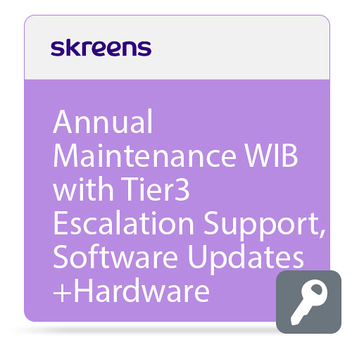 Skreens Annual Maintenance WIB with Tier3 Escalation Support,Software Updates+Hardware Replacement In Year 1