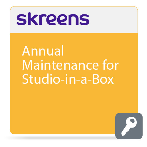 Skreens Annual Maintenance for Studio-in-a-Box (Download)