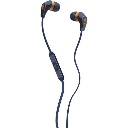 Skullcandy 50/50 Earbud Headphones (Navy and Gold)