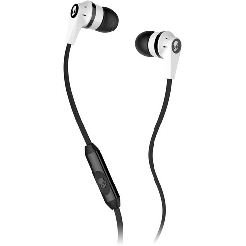 Skullcandy INK'D MIC'D Earbud Headphones (White and Black)