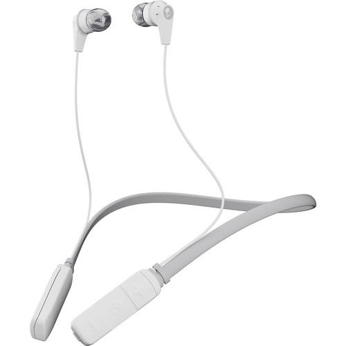 Skullcandy Ink'd Wireless Bluetooth In-Ear Headphones (White/Gray)