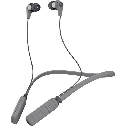 Skullcandy Ink'd Wireless Bluetooth In-Ear Headphones (Street/Gray/Chrome)