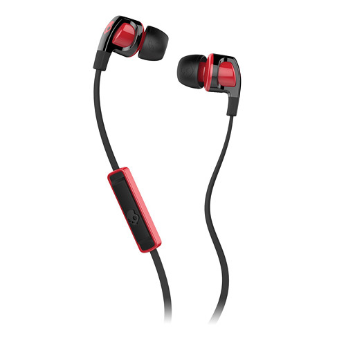 Skullcandy Smokin' Buds 2 Earbud Headphones with Mic (Black/Red)