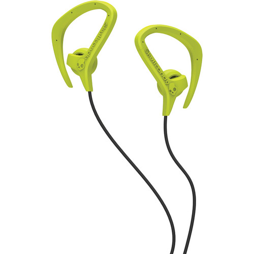 Skullcandy Chops Sport Earbuds (Hot Lime and Black)