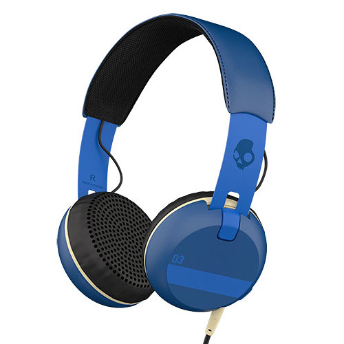 Skullcandy Grind Headphones with Single-Button TapTech and Mic (Royal Blue)