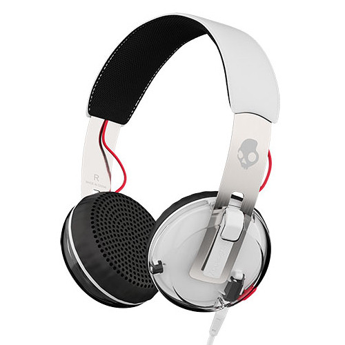Skullcandy Grind Headphones with Single-Button TapTech and Mic (White)