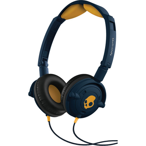 Skullcandy Lowrider On-Ear Headphone (Navy and Gold)