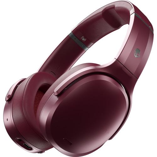 Skullcandy Crusher Active Noise-Canceling Wireless Over-Ear Headphones (Deep Red)